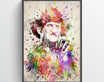 Freddy Krueger Poster, Freddy Krueger Print, Freddy Krueger Art, Home Decor, Gift Idea
