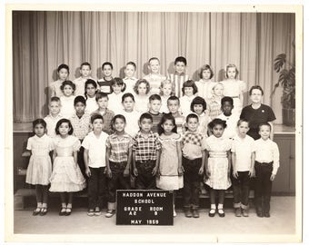 Picture Day, Black and White Class Photo, 1959, Second Grade, Haddon Ave. School, Pacoima CA School Picture