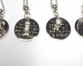 "lovley circle pendants on chain. "" The Love Between A Mother And Daugther Is Forever"" also mother and son, nanny and granddaugther, grandmot"