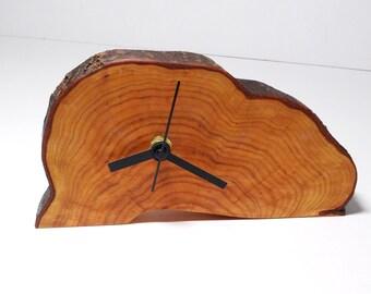 Clock, wood slice clock,wooden clock, rustic clock, desk clock (37)