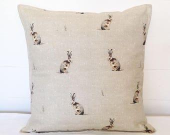 Hartley Hare Cushion Cover, Rabbit Cushion Cover