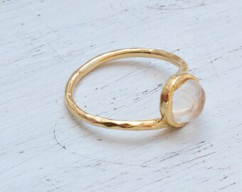 Gold Ring,Moonstone Ring,Dainty Ring,Stacking Ring,Gold Moonstone Ring,Gemstone Ring,Statement Ring,Birthstone Ring