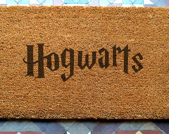 door mat  Hogwarts engraved coir door mat Size: 400 x 600 mm   UK Based