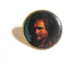 Vintage 80s Michael Anthony - Van Halen - Photo Dome Pin / Button / Badge