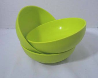 Tupperware Cereal Bowls Lime Green
