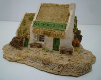 IRISH PUB COLLECTIBLE.  Irish Heritage Collection. O'Dohertys Bar, Donegal. Collectible Irish Memorabilia. Thatched Roof Pub Ireland.
