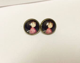 Spirited away kaonashi no face studio ghibli stud earrings