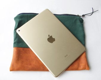 iPad Air 2 Pouch. iPad Case.iPad Cover.Tablet Case Pouch.Male or Female.Electronic Accessory Pouch. Gift for Wife. Gift for Husband.