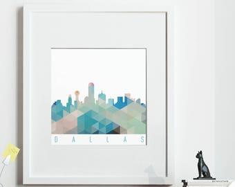 Geometric DALLAS Print, *UNFRAMED* 2 sizes available, Modern Art Print