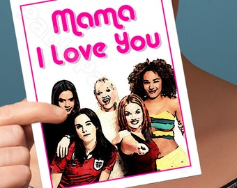 Mothers Day Card | Spice Girls | Spice World Girl Power Unique Mothers Day Mothers Day Cards Encouragement Cards Gift For Mom Mom Card Mom
