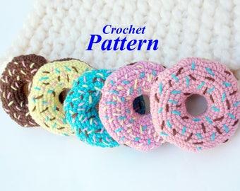 Donut Crochet Pattern,Crochet Pattern,Food Crochet Pattern,Crochet Pattern Toy Food,Amigurumi Donut,Donuts PDF Pattern, Donut dessert pink