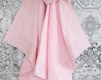 Hooded Kids/baby Girl Towel, Handmade, Stylish and Playful, Indoors and Outdoors use. Ready to Ship.