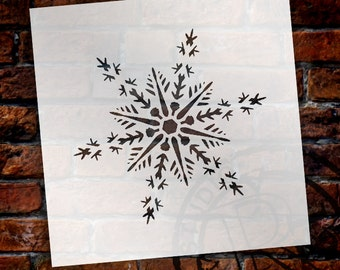 Christmas Shapes Stencil - Dazzling Snowflake - Select Size - STCL1566 - by StudioR12
