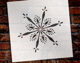 Christmas Shapes Stencil - Delicate Snowflake - Select Size - STCL1568 - by StudioR12