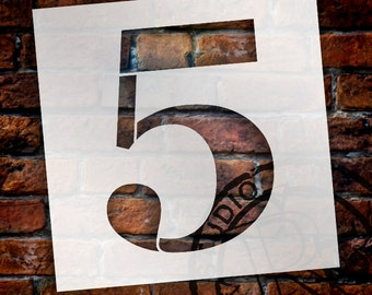 5 -Classic Serif Letter Stencil - Select Size - STCL1706 - by StudioR12