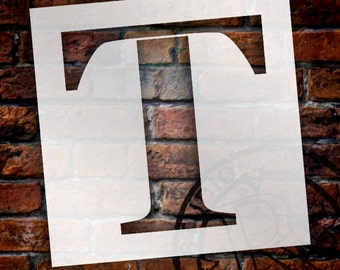 T -Monogram Letter Stencil - Select Size - STCL1733 - by StudioR12