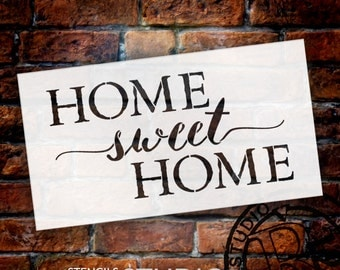 Home Sweet Home - Old Fashioned Serif & Script - Word Stencil - Select Size - STCL1749 - by StudioR12