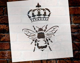Queen Bee Stencil By StudioR12
