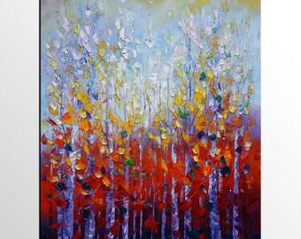Large Art Painting, Tree Painting, Original Painting, Landscape Canvas Art, Abstract Art, Original Painting, Abstract Wall Art, Modern Art