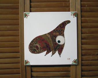 Treehopper #2 Fabric Wall Art