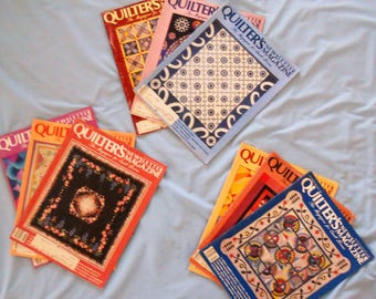 Quilters Newletter Magazines.  1987 Quilters Newletter Magazine.  Good to Very good condition.
