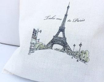 TOTE Bag - Cotton Tote Bag - Shopping bag - Take me to Paris - Tour Eiffel
