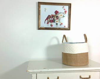 Burlap Storage Basket, Storage Basket, Basket, Storage, Storage Bin, Fabric Bin, Storage Tote, Tote, clothing storage