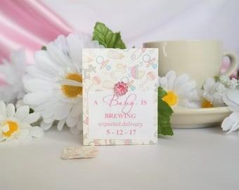 Personalized Tea Bag Party Favors / Tea Party Favors / Baby Shower Tea Bag Favors / Bridal Shower Tea Bag Favors / Birthday Tea Bag Favors