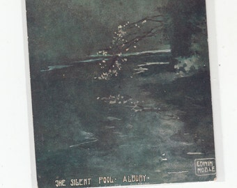 Beautiful Arts & Crafts Authentic Antique Postcard Artist  Signed Noble,UK The Silent Pool Albury