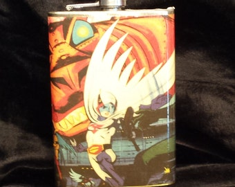Battle of the Planets - 8 oz stainless steel flask