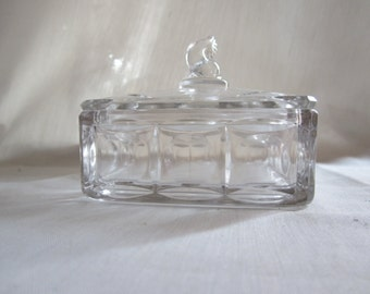 Fenton Plymouth Cheese Dish with Fish Finial