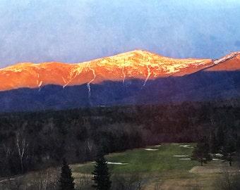 Sunset over Mt. Washington