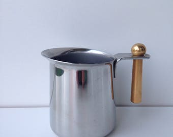 Vintage stainless steel milk jug