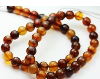 One full strand 100% Genuine Baltic Amber Beads, Center drilled Round Shape ,9mm Round-GEM1270
