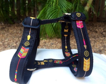 Aztec Arrows Dog Harness / H-Harness / Dog Collars Australia /