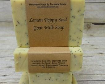 Lemon Poppyseed Goat Milk Soap