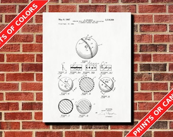 10 Pin Bowling Alley Patent Print Bowling Ball Blueprint Man Cave Wall Art Poster