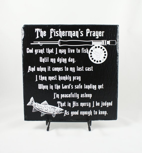 Fisherman's Prayer, Fishermen's Prayer, Rod and Reel, Fishing Prayer, Fishing Humor, Fishing Cabin Decor, Lake House Decor, Fishing Club