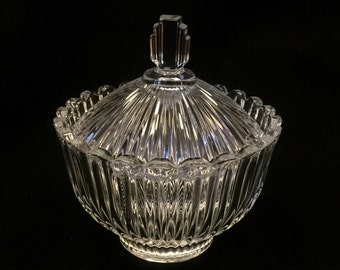 Art Deco Glass Sugar Bowl *FREE SHIPPING**
