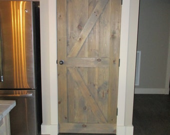Rustic Weathered Barn Door Old Fashioned Custom Built Handcrafted