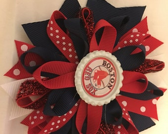 Boston Red Sox hairbow