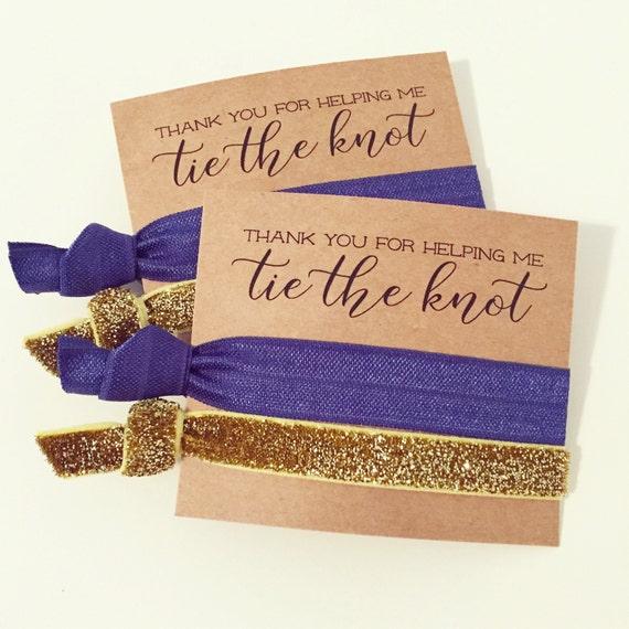 Hair Tie Bachelorette Favor // Navy Blue + Gold Glitter Elastic Hair Tie Bridesmaid Gifts, Hair Tie Favor Custom Bachelorette Party Favor