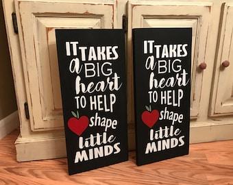 It take a BIG heart sign