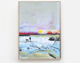 Printable Abstract Art, Seascape Painting, Digital Download, Beach Seascape Large wall art, Ocean Art, Ocean Print, A1 art, Dan Hobday