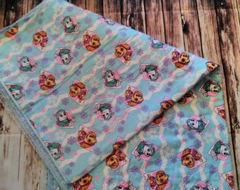 Cot Quilt, Paw Patrol Baby Girls Cot Quilt, Nursery Bedding, Paw Patrol Bedding, Baby Bedding, Quilt, Baby Quilt, Baby Girls Blanket