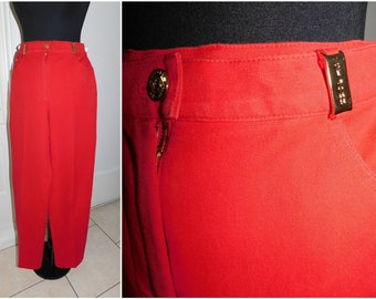 St. John Sport by Marie Gray Stretch Red Pants Excellent Condition Size Small Medium