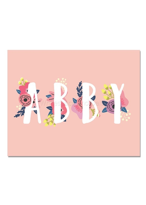 Abby Baby Name Wall Art Abby Baby Name Sign Abby Party