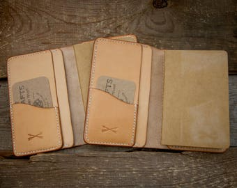 SALE! Leather Cover / Wallet For Field Notes Booklets or Passport