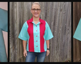 ADULT BOWLING/BIRTHDAY Shirts-Matching Mom, Dad & Kids-Hawaiian shirt-Bowling embroidered birthday-Party-Celebration-Sizes xxs to 3 xl