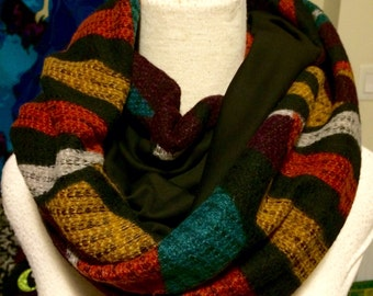 Handmade Autumn Abstract Infinity Scarve